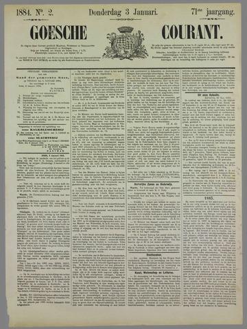Goessche Courant 1884-01-03
