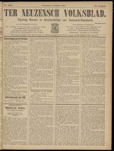 Ter Neuzensch Volksblad. Vrijzinnig nieuws- en advertentieblad voor Zeeuwsch- Vlaanderen / Zeeuwsch Nieuwsblad. Nieuws- en advertentieblad voor Zeeland 1914-02-04