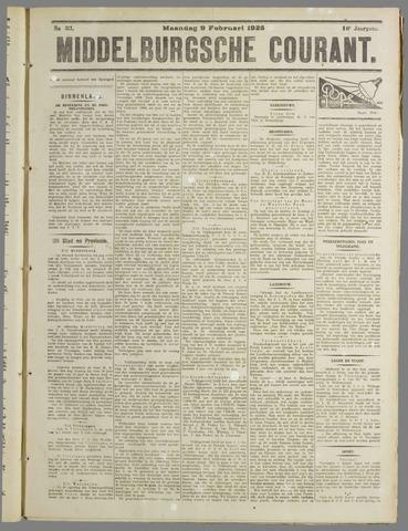 Middelburgsche Courant 1925-02-09
