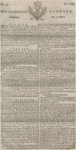 Middelburgsche Courant 1768-03-29