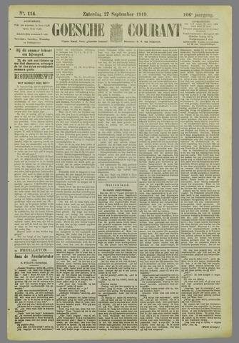 Goessche Courant 1919-09-27