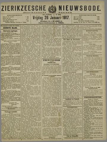 Zierikzeesche Nieuwsbode 1917-01-26