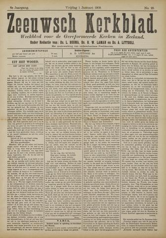 Zeeuwsche kerkbode, weekblad gewijd aan de belangen der gereformeerde kerken/ Zeeuwsch kerkblad 1909-01-01