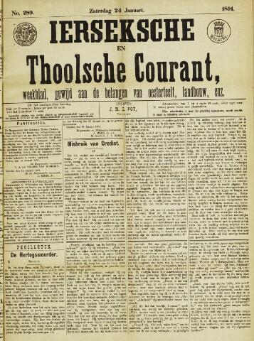 Ierseksche en Thoolsche Courant 1891-01-24