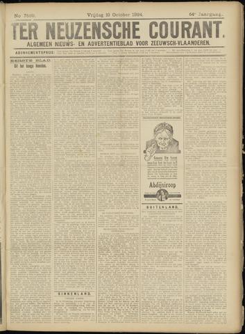 Ter Neuzensche Courant. Algemeen Nieuws- en Advertentieblad voor Zeeuwsch-Vlaanderen / Neuzensche Courant ... (idem) / (Algemeen) nieuws en advertentieblad voor Zeeuwsch-Vlaanderen 1924-10-10