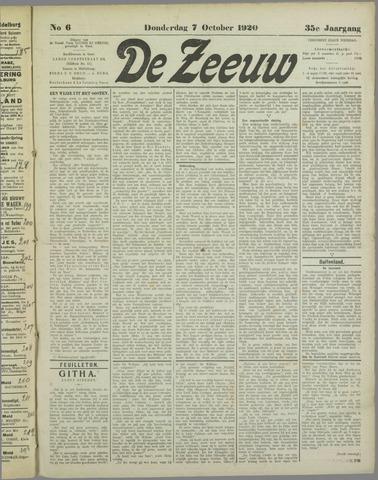 De Zeeuw. Christelijk-historisch nieuwsblad voor Zeeland 1920-10-07