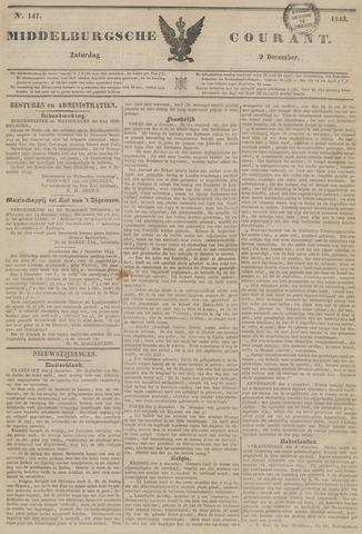 Middelburgsche Courant 1843-12-09