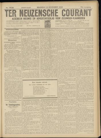 Ter Neuzensche Courant. Algemeen Nieuws- en Advertentieblad voor Zeeuwsch-Vlaanderen / Neuzensche Courant ... (idem) / (Algemeen) nieuws en advertentieblad voor Zeeuwsch-Vlaanderen 1936-11-16