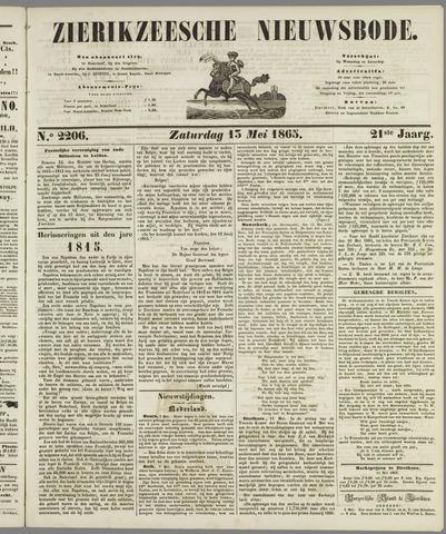 Zierikzeesche Nieuwsbode 1865-05-13