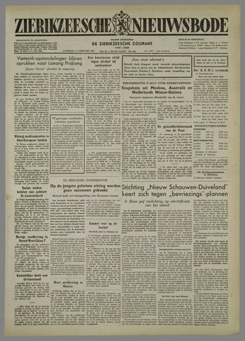 Zierikzeesche Nieuwsbode 1954-02-13