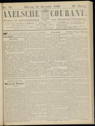 Axelsche Courant 1923-12-11
