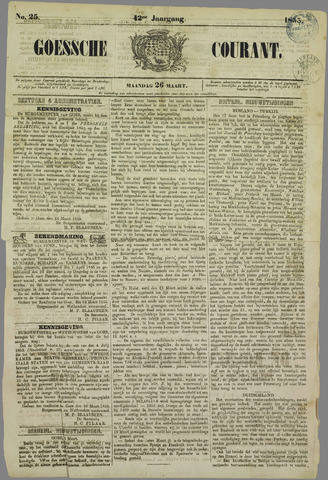 Goessche Courant 1855-03-26
