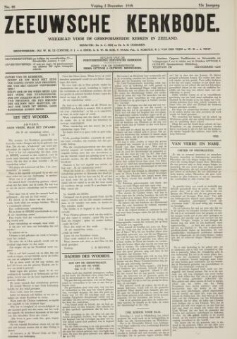 Zeeuwsche kerkbode, weekblad gewijd aan de belangen der gereformeerde kerken/ Zeeuwsch kerkblad 1938-12-02