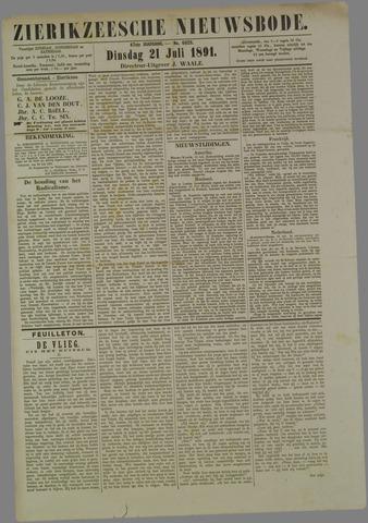 Zierikzeesche Nieuwsbode 1891-07-21