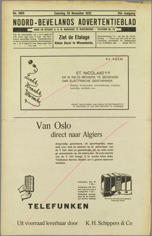 Noord-Bevelands Nieuws- en advertentieblad 1932-11-26