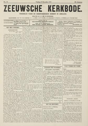Zeeuwsche kerkbode, weekblad gewijd aan de belangen der gereformeerde kerken/ Zeeuwsch kerkblad 1935-12-27