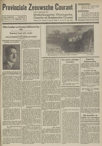 Provinciale Zeeuwse Courant 1941-02-25