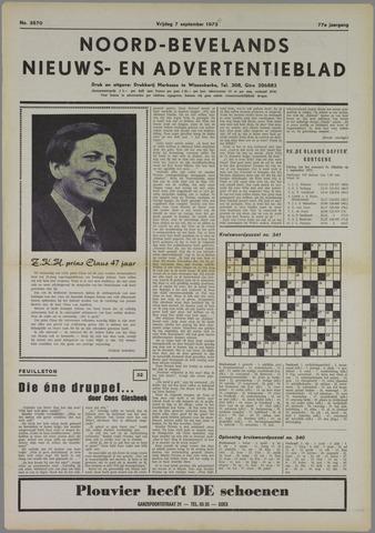 Noord-Bevelands Nieuws- en advertentieblad 1973-09-07