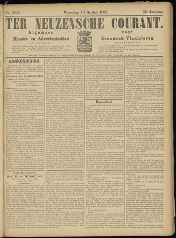 Ter Neuzensche Courant. Algemeen Nieuws- en Advertentieblad voor Zeeuwsch-Vlaanderen / Neuzensche Courant ... (idem) / (Algemeen) nieuws en advertentieblad voor Zeeuwsch-Vlaanderen 1892-10-19