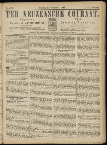 Ter Neuzensche Courant. Algemeen Nieuws- en Advertentieblad voor Zeeuwsch-Vlaanderen / Neuzensche Courant ... (idem) / (Algemeen) nieuws en advertentieblad voor Zeeuwsch-Vlaanderen 1902-09-23