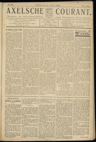 Axelsche Courant 1936-07-21