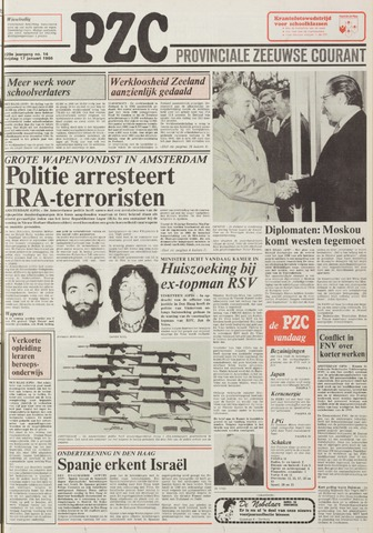 Provinciale Zeeuwse Courant 1986-01-17