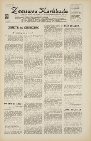 Zeeuwsche kerkbode, weekblad gewijd aan de belangen der gereformeerde kerken/ Zeeuwsch kerkblad 1966-10-07