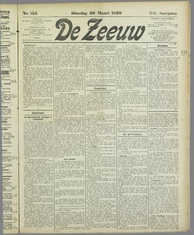 De Zeeuw. Christelijk-historisch nieuwsblad voor Zeeland 1920-03-30