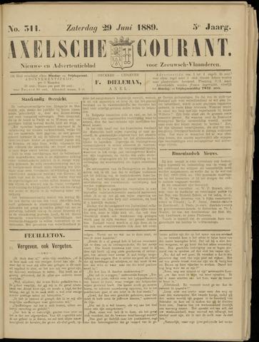 Axelsche Courant 1889-06-29