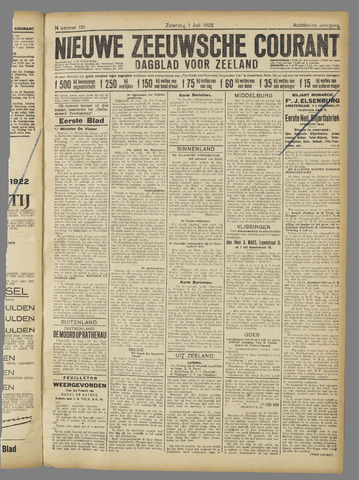 Nieuwe Zeeuwsche Courant 1922-07-01