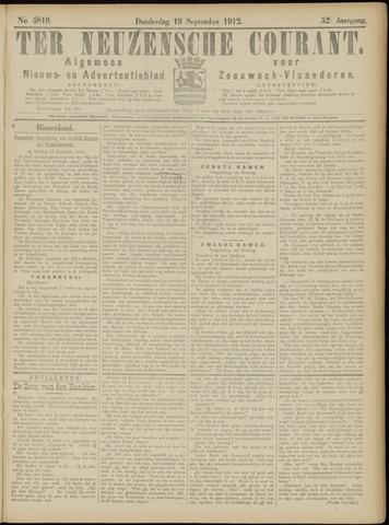 Ter Neuzensche Courant. Algemeen Nieuws- en Advertentieblad voor Zeeuwsch-Vlaanderen / Neuzensche Courant ... (idem) / (Algemeen) nieuws en advertentieblad voor Zeeuwsch-Vlaanderen 1912-09-19