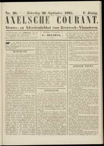 Axelsche Courant 1885-09-26