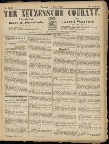 Ter Neuzensche Courant. Algemeen Nieuws- en Advertentieblad voor Zeeuwsch-Vlaanderen / Neuzensche Courant ... (idem) / (Algemeen) nieuws en advertentieblad voor Zeeuwsch-Vlaanderen 1899-06-17