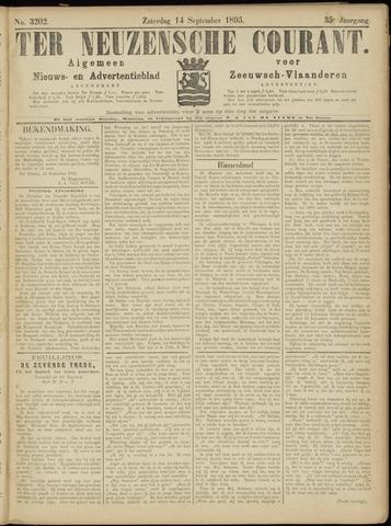 Ter Neuzensche Courant. Algemeen Nieuws- en Advertentieblad voor Zeeuwsch-Vlaanderen / Neuzensche Courant ... (idem) / (Algemeen) nieuws en advertentieblad voor Zeeuwsch-Vlaanderen 1895-09-14