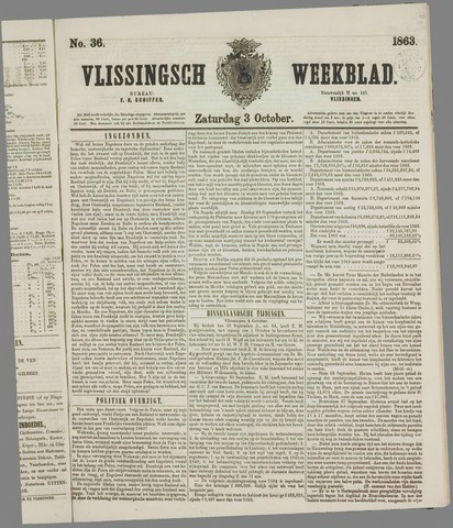 Vlissings Weekblad 1863-10-03