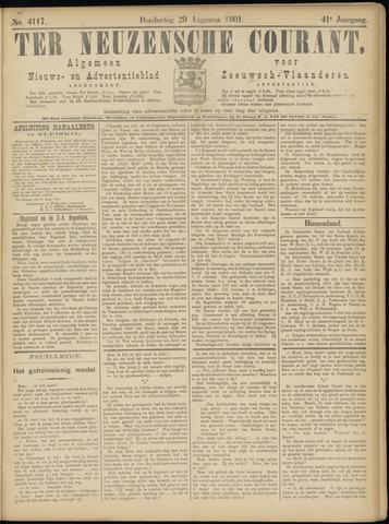 Ter Neuzensche Courant. Algemeen Nieuws- en Advertentieblad voor Zeeuwsch-Vlaanderen / Neuzensche Courant ... (idem) / (Algemeen) nieuws en advertentieblad voor Zeeuwsch-Vlaanderen 1901-08-29
