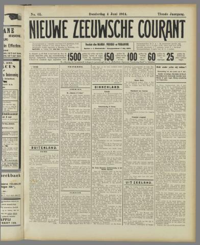 Nieuwe Zeeuwsche Courant 1914-06-04