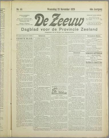 De Zeeuw. Christelijk-historisch nieuwsblad voor Zeeland 1929-11-20