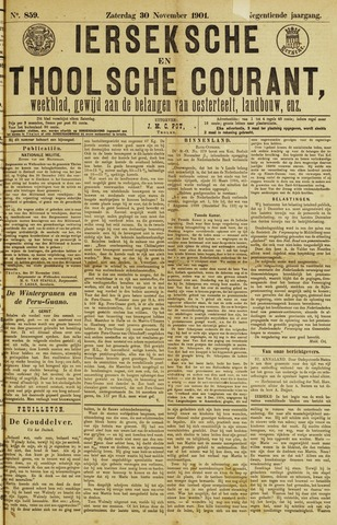 Ierseksche en Thoolsche Courant 1901-11-30