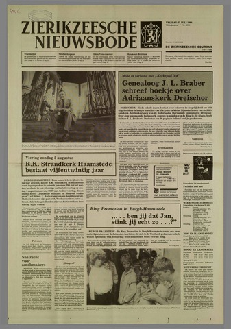 Zierikzeesche Nieuwsbode 1984-07-27