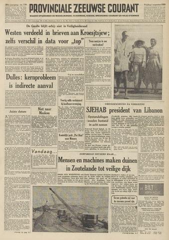 Provinciale Zeeuwse Courant 1958-08-01