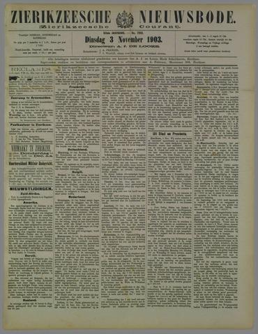 Zierikzeesche Nieuwsbode 1903-11-03