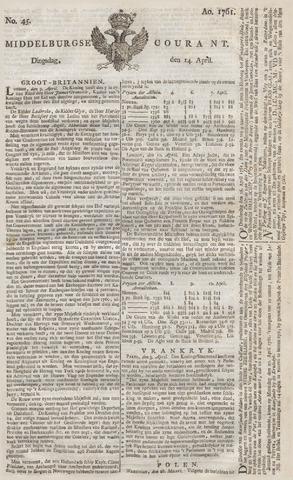 Middelburgsche Courant 1761-04-14