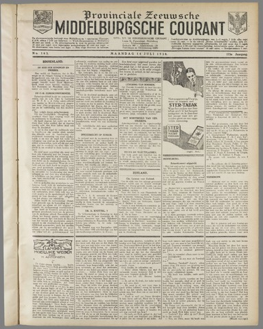 Middelburgsche Courant 1930-07-14