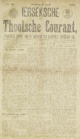 Ierseksche en Thoolsche Courant 1886-04-17