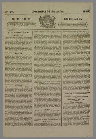 Goessche Courant 1845-09-25