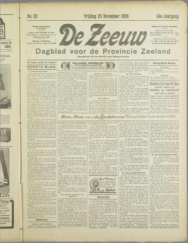 De Zeeuw. Christelijk-historisch nieuwsblad voor Zeeland 1929-11-29