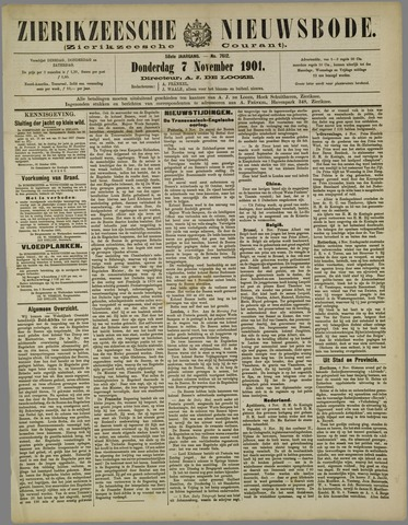 Zierikzeesche Nieuwsbode 1901-11-07