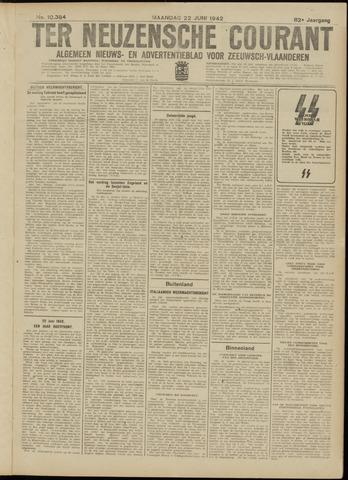 Ter Neuzensche Courant. Algemeen Nieuws- en Advertentieblad voor Zeeuwsch-Vlaanderen / Neuzensche Courant ... (idem) / (Algemeen) nieuws en advertentieblad voor Zeeuwsch-Vlaanderen 1942-06-22