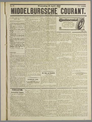 Middelburgsche Courant 1927-04-13